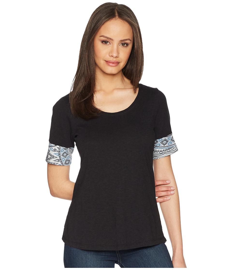 Aventura Clothing - Element Short Sleeve Top (Black) Womens Clothing