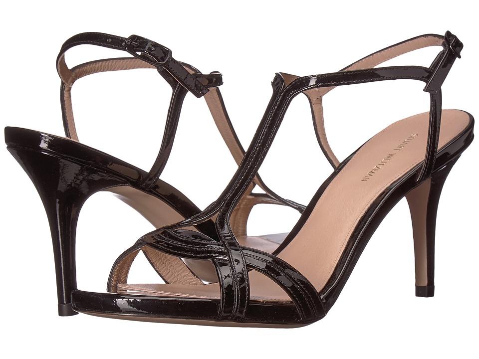 Stuart Weitzman Sunny (Black Patent) Women's Shoes