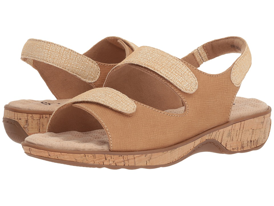 SoftWalk - Bolivia (Sand Embossed Leather) Womens Sandals