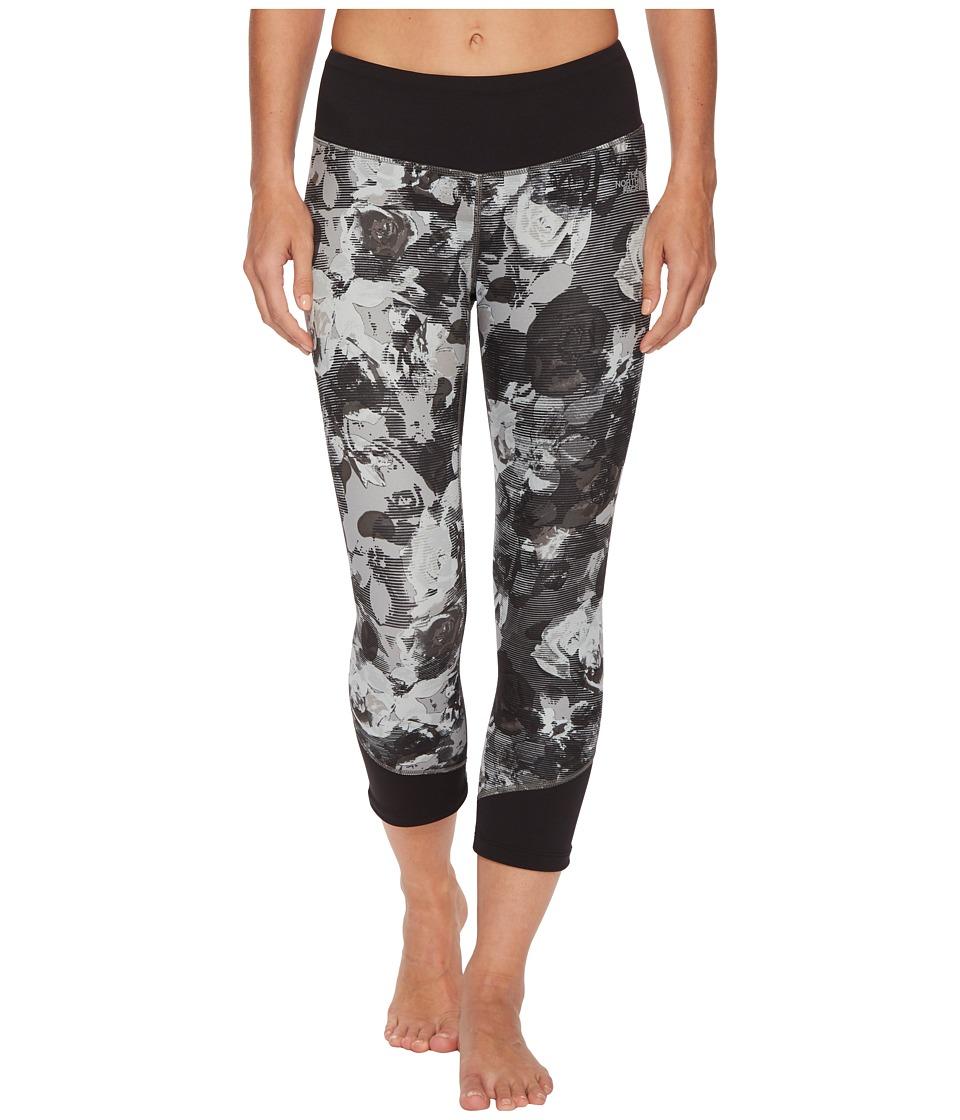 The North Face Pulse Mid-Rise Crop Pants (TNF Black Botanical Print) Women