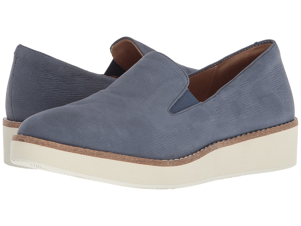 SoftWalk Whistle (Denim Embossed Soft Leather) Slip-On Shoes