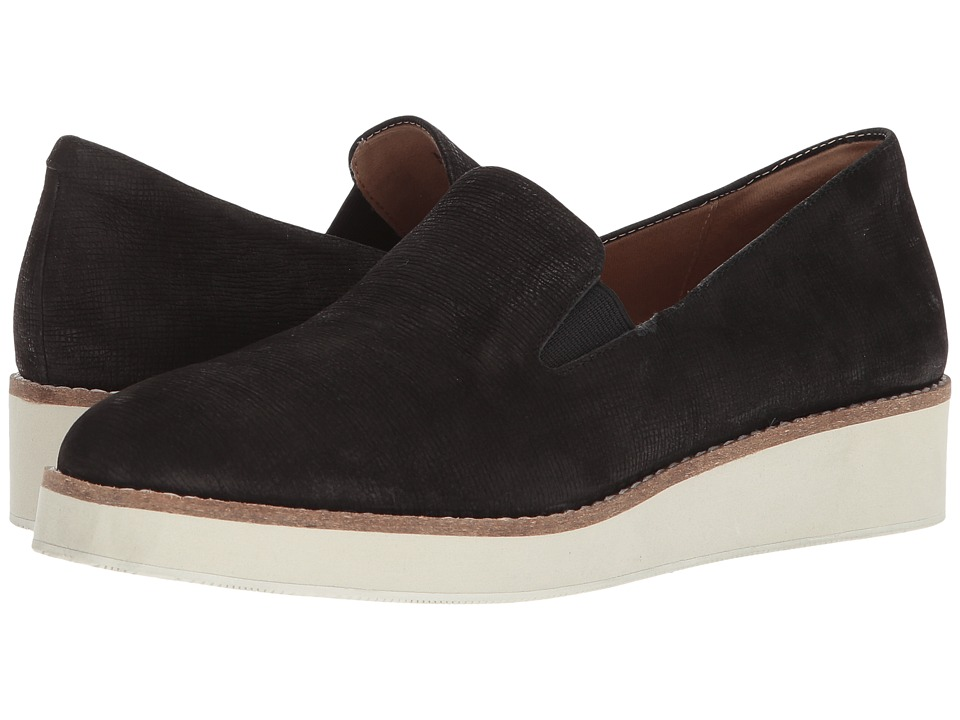 SoftWalk Whistle (Black Embossed Soft Leather) Slip-On Shoes