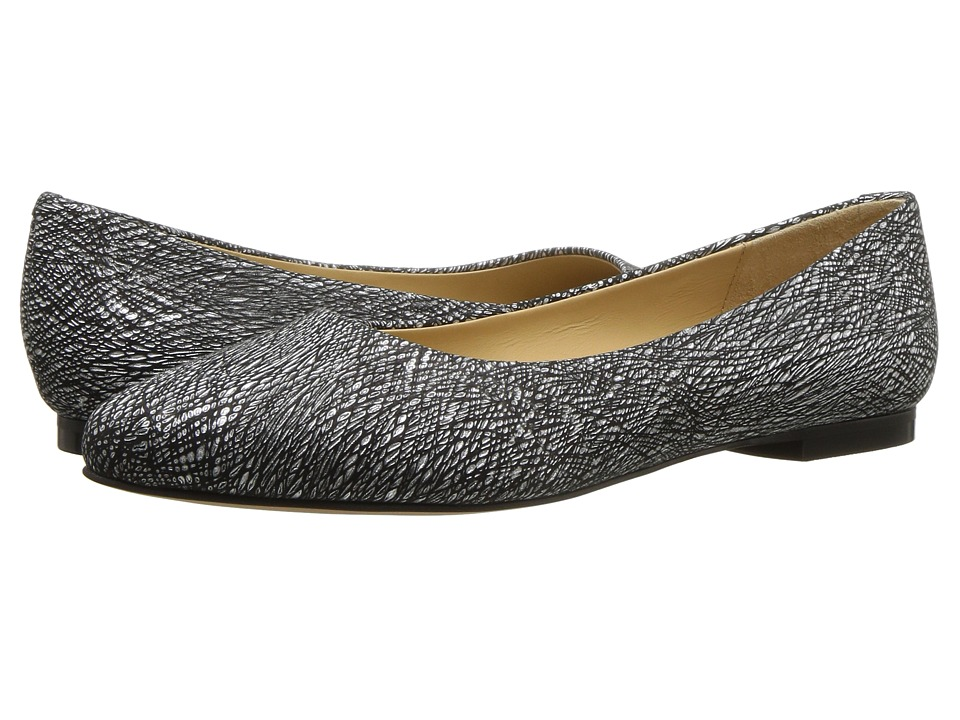 Trotters Estee (Black Metallic Leather) Women's Slip-on Dress Shoes