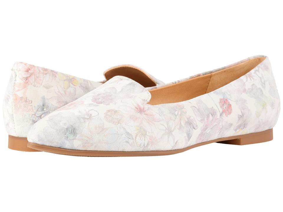 Vintage Wedding Shoes, Flats, Boots, Heels Trotters - Harlowe Floral Multi Printed Floral Leather Womens Flat Shoes $99.95 AT vintagedancer.com