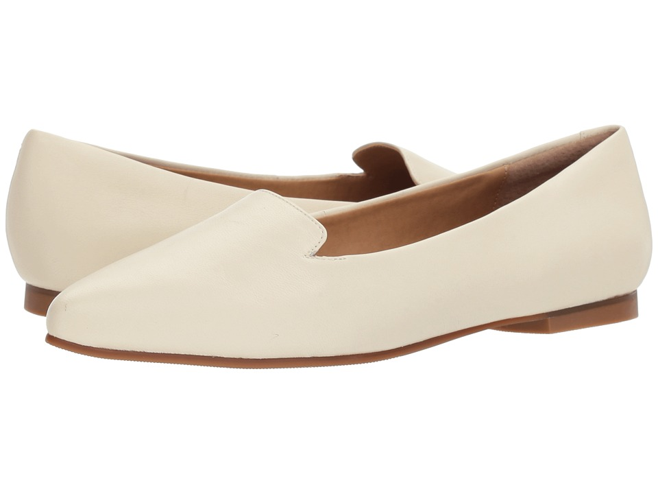 Vintage Wedding Shoes, Flats, Boots, Heels Trotters - Harlowe Off-White Soft Leather Womens Flat Shoes $99.95 AT vintagedancer.com