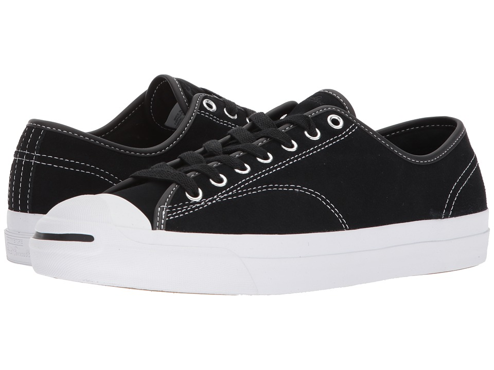 Converse Skate - Jack Purcell Pro Ox Skate (Black/Black/White) Athletic Shoes