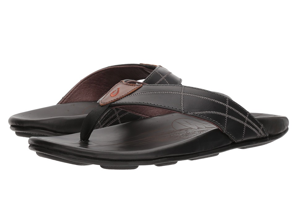 OluKai - Hokule'a Kia (Black/Black) Men's Sandals