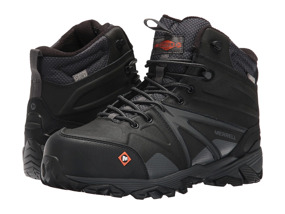 Merrell Work Trailwork Mid Waterproof CT (Black) Men
