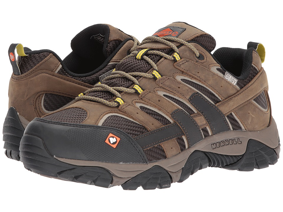 Merrell Work - Moab 2 Vent Waterproof SR (Boulder) Mens Lace up casual Shoes