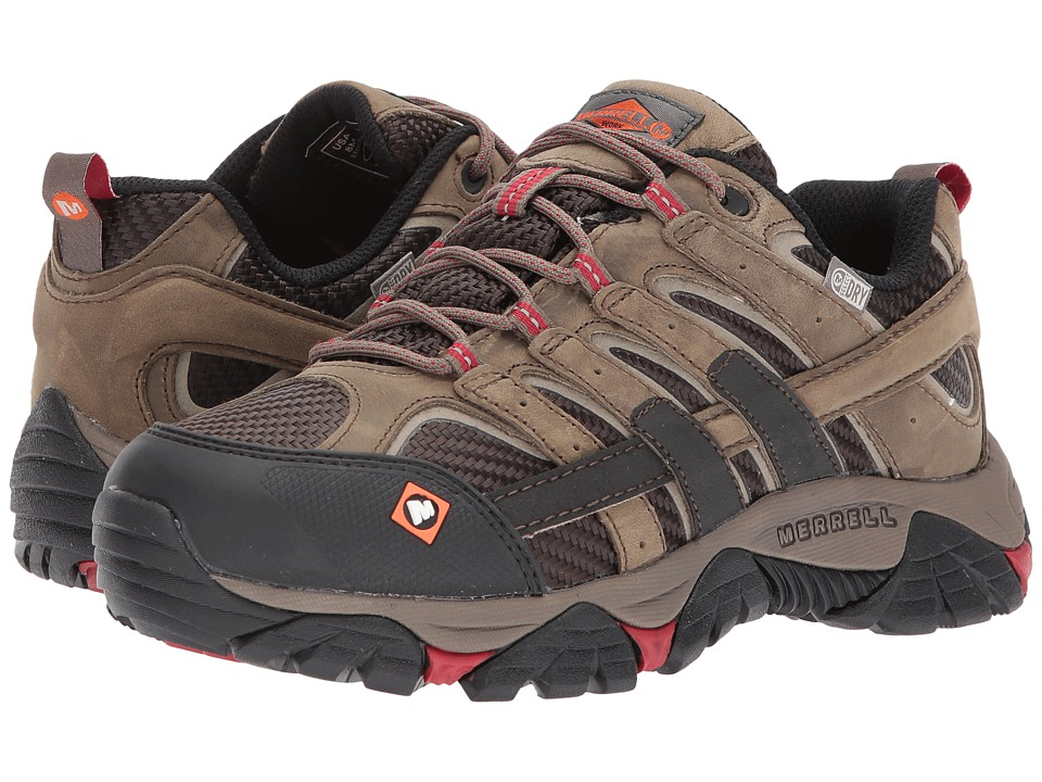 Merrell Work - Moab 2 Vent Waterproof SR (Boulder) Womens Lace up casual Shoes