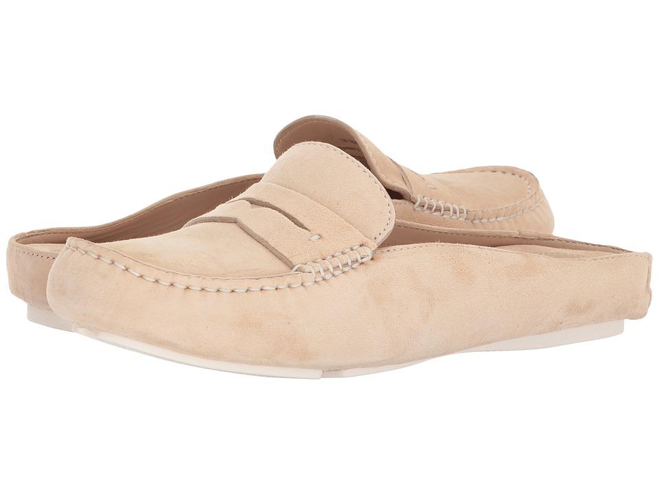 Johnston & Murphy - Myah (Beige Kid Suede) Womens Slip on  Shoes
