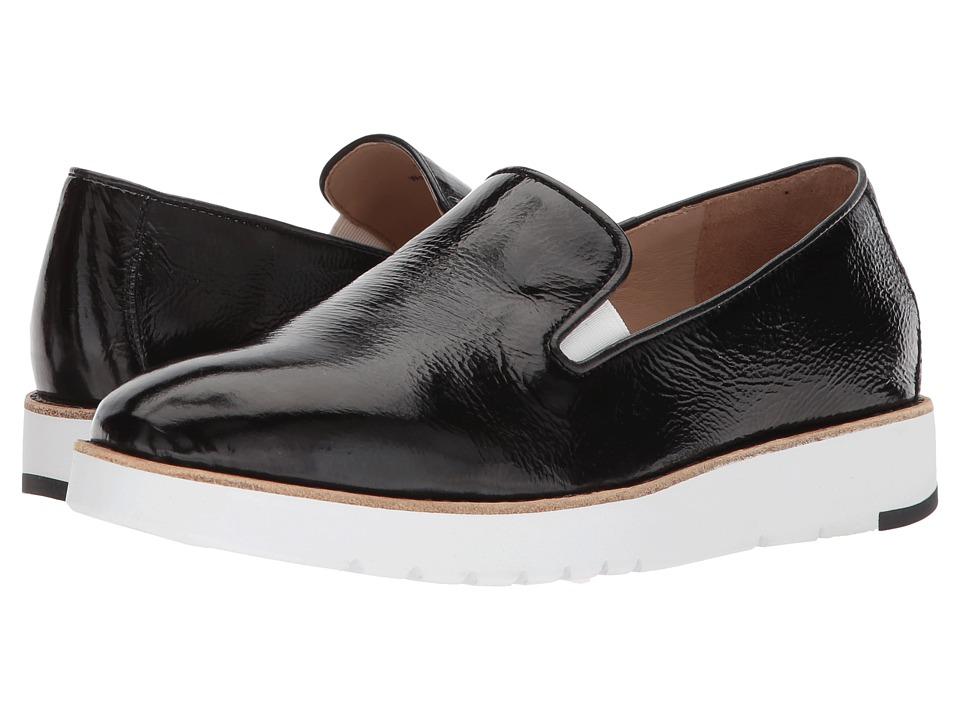 Johnston & Murphy - Penelope (Black Crinkle Patent) Womens Slip on  Shoes