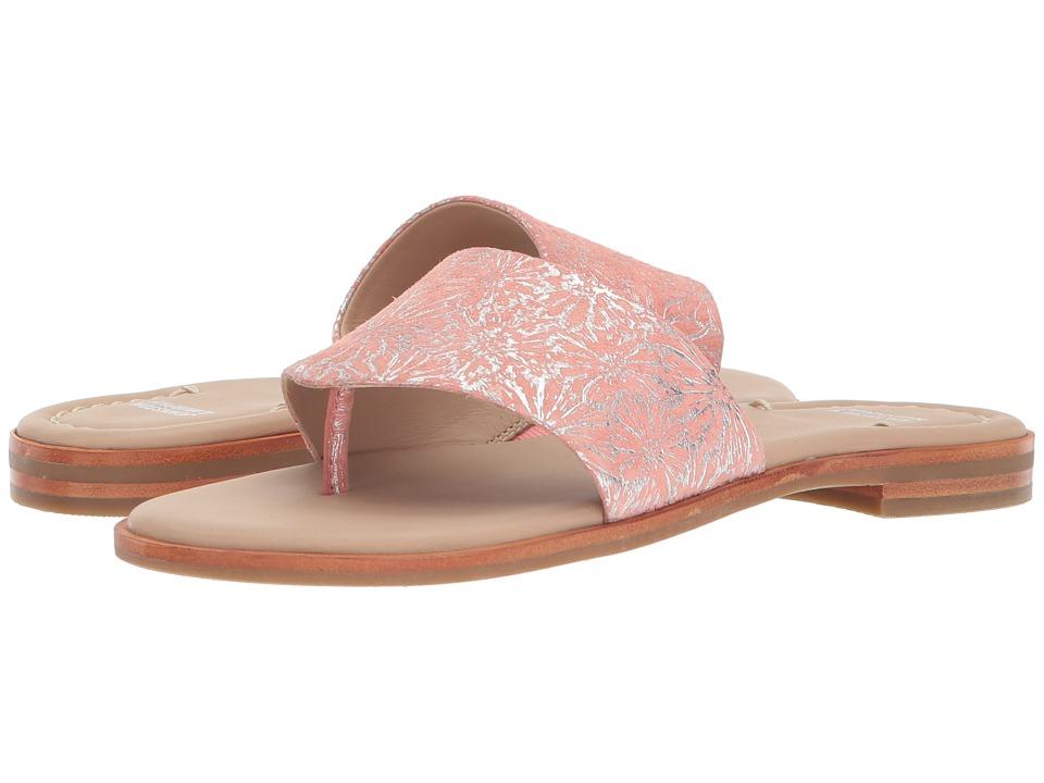 Johnston & Murphy Raney (Coral Metallic Print Suede) Sandals