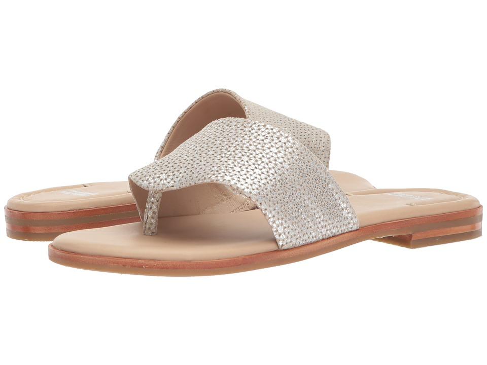 Johnston & Murphy Raney (Silver Laser Cut Metallic Suede) Sandals