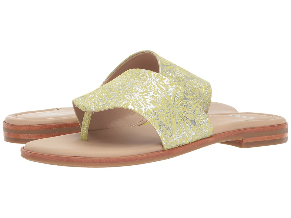 Johnston & Murphy Raney (Lime Metallic Print Suede) Sandals