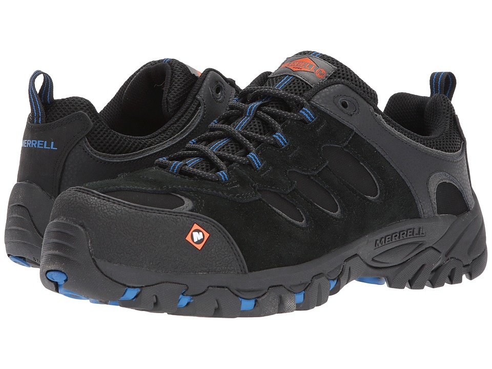 Merrell Work - Ridgepass Bolt CT (Black) Mens Lace up casual Shoes