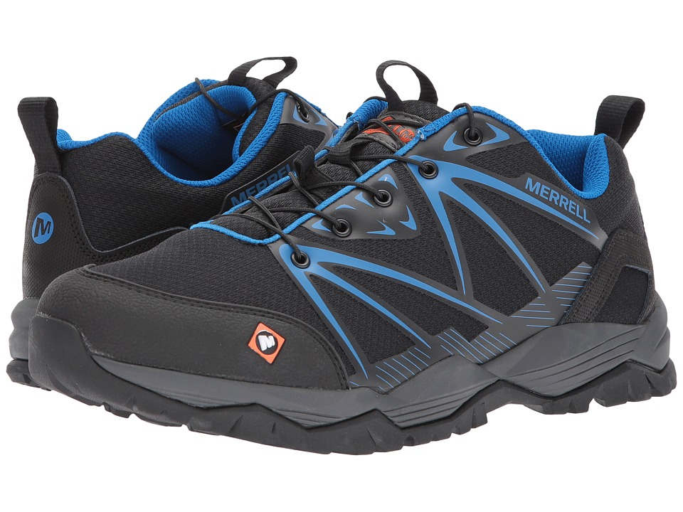 Merrell Work - Fullbench SR (Black) Mens Lace up casual Shoes
