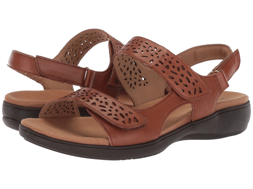 Trotters - Tamara (Luggage Soft Leather) Women's Sandals