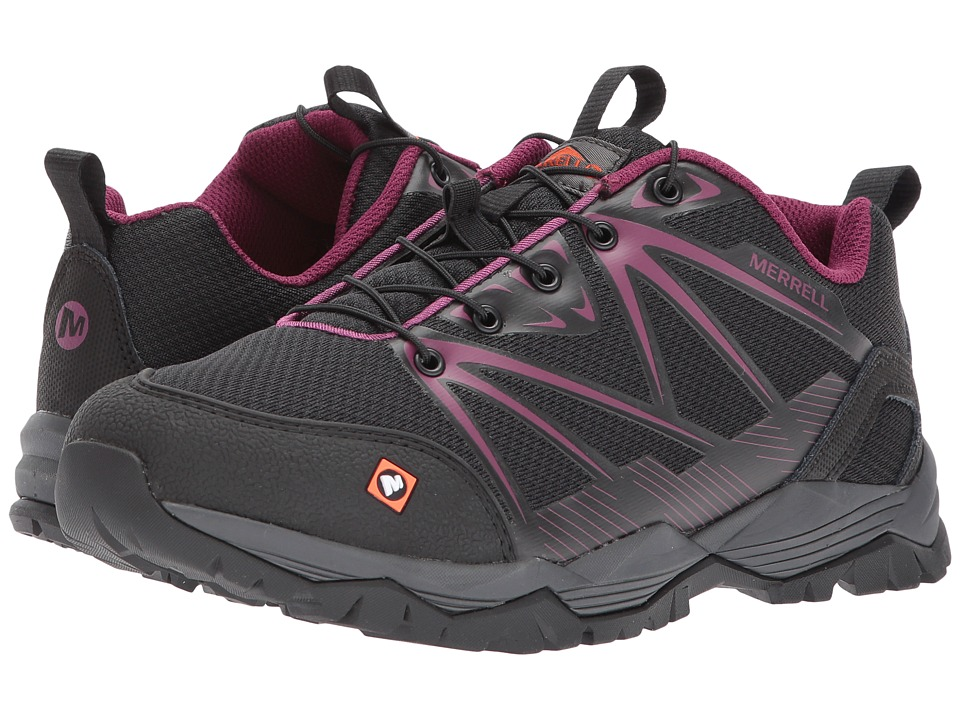 Merrell Work - Fullbench SR (Black) Womens Lace up casual Shoes