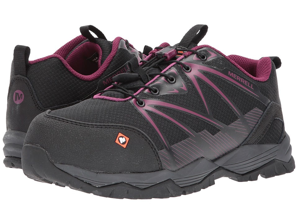 Merrell Work - Fullbench CT (Black) Womens Lace up casual Shoes