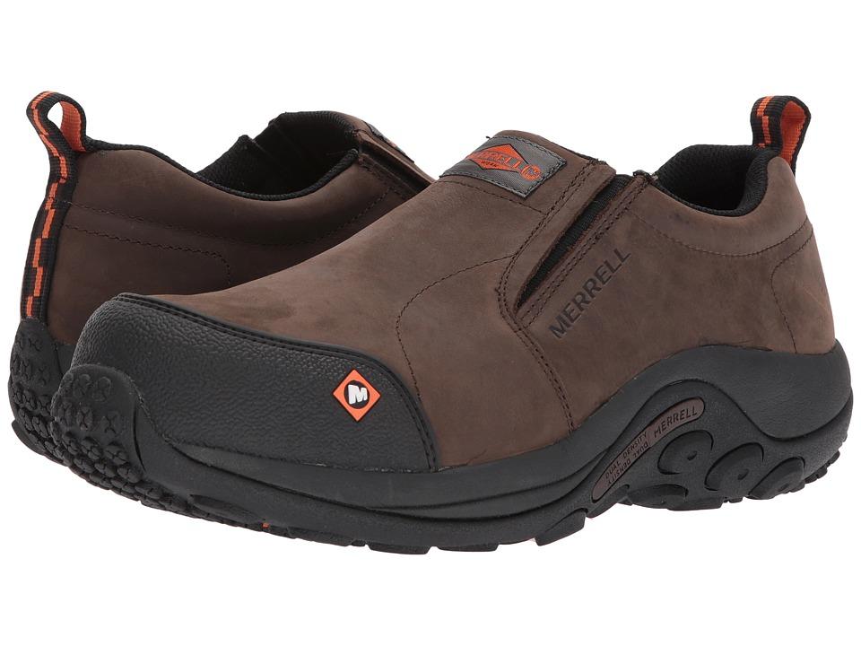 Merrell Work - Jungle Moc CT (Espresso) Mens Slip on  Shoes