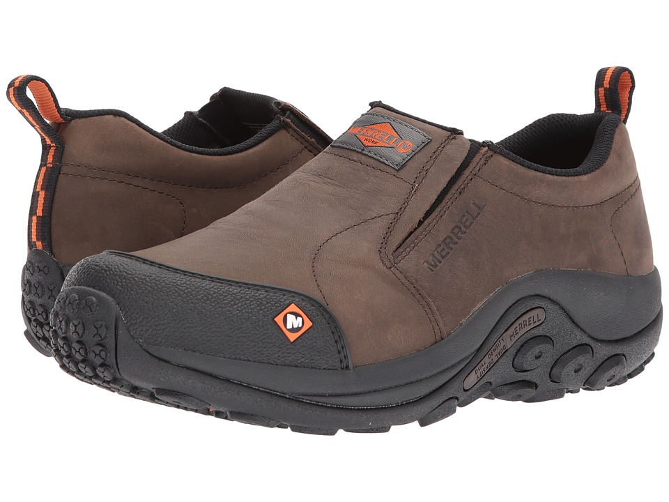 Merrell Work - Jungle Moc SR (Espresso) Mens Slip on  Shoes