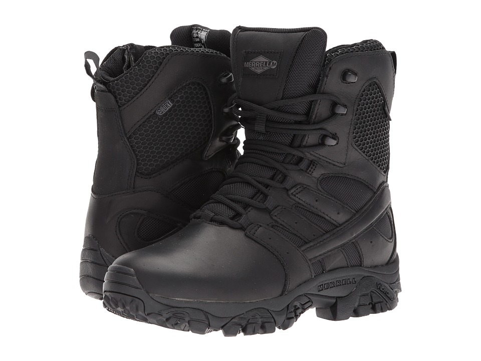 Merrell Work - Moab 2 8 Tactical Response Waterproof (Black) Womens Lace-up Boots