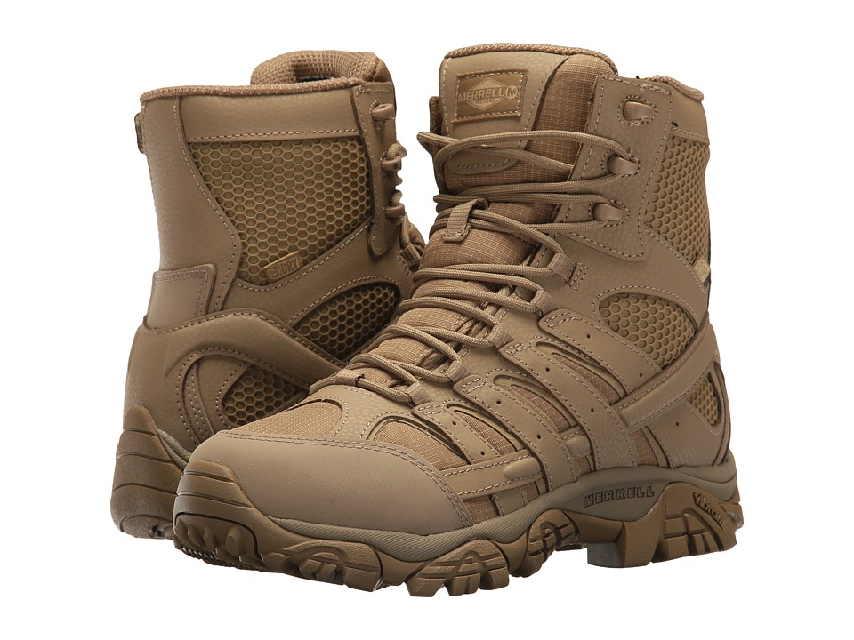 Merrell Work - Moab 2 8 Tactical Waterproof (Coyote) Womens Lace-up Boots