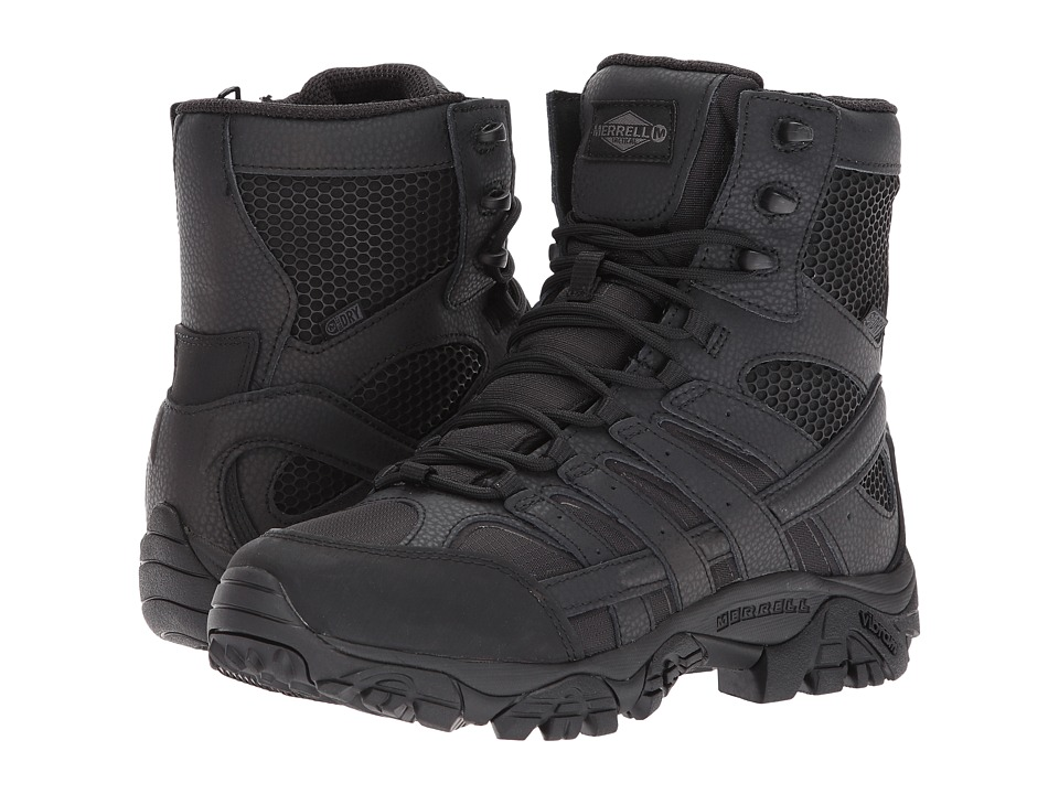 Merrell Work Moab 2 8 Tactical Waterproof (Black) Women's Lace-up Boots