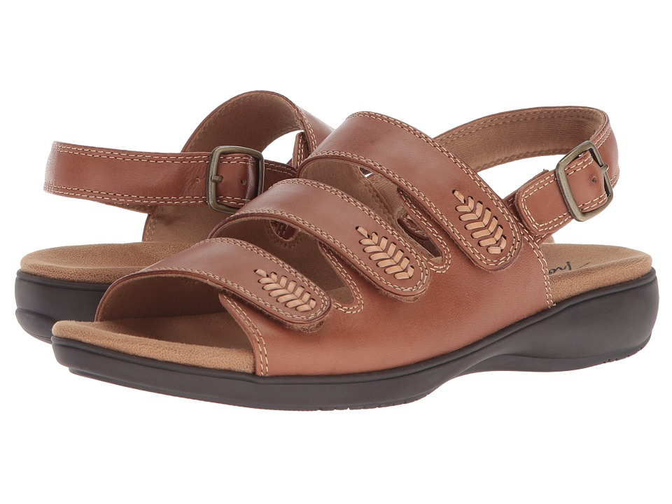 Trotters Tonya (Luggage Smooth Sandal Leather) Women