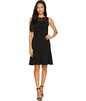 Taylor - Lace Yoke Crepe Dress