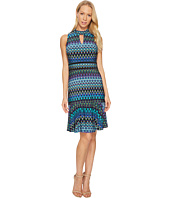 Taylor - Chevron Halter Jersey Dress