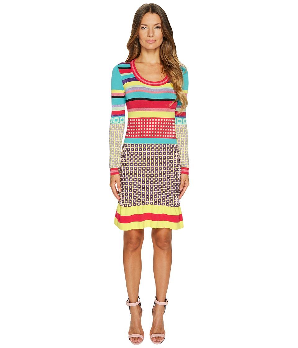 Boutique Moschino Knit Multi Pattern Dress (Multi) Women