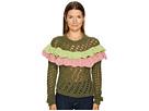 Boutique Moschino Green Ruffle Sweater