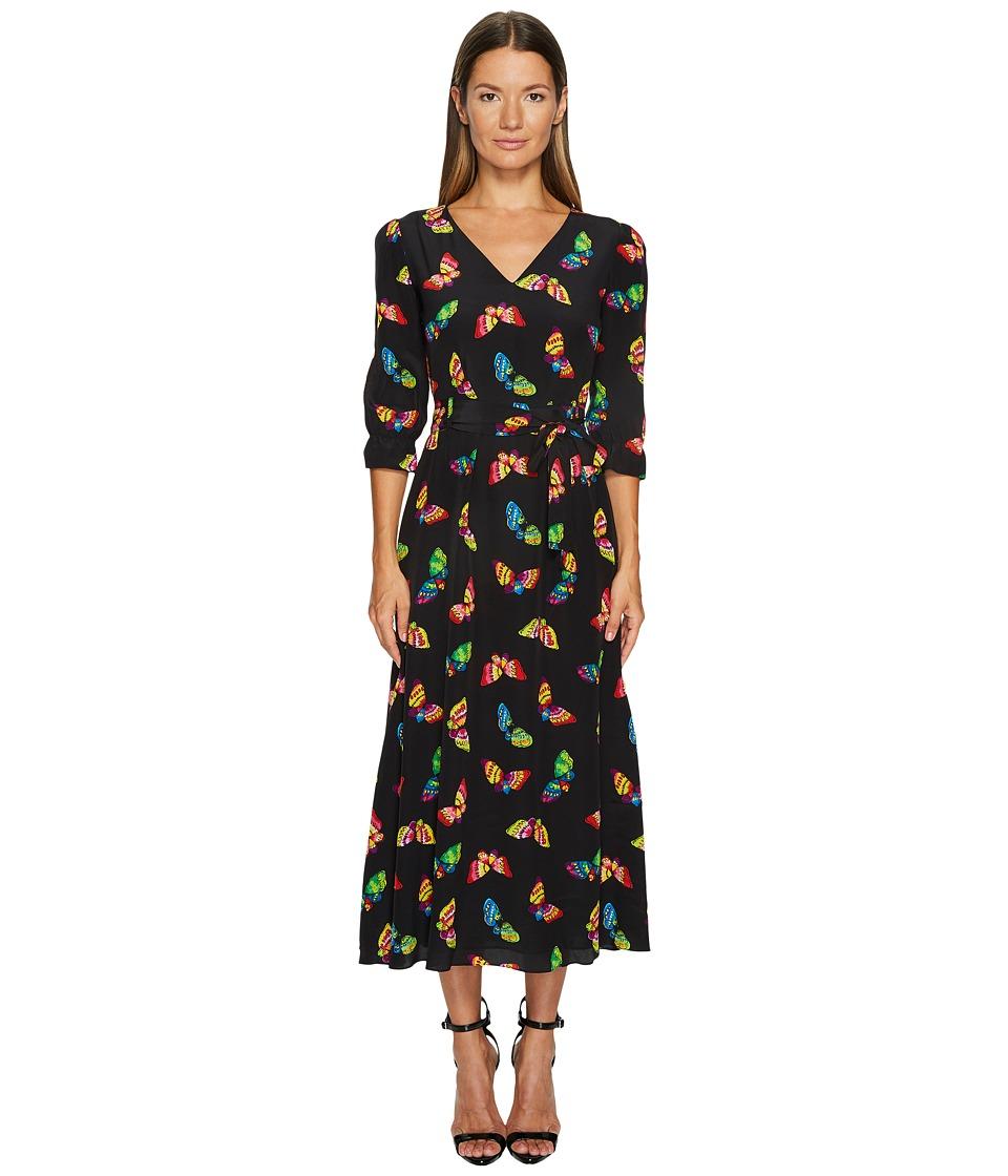 Boutique Moschino Silk Butterfly Maxi (Black) Women