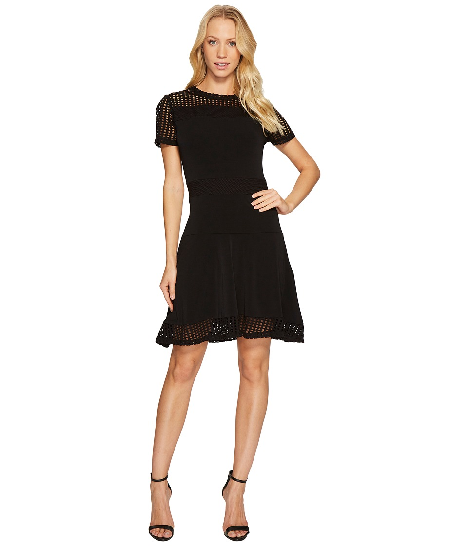 MICHAEL Michael Kors Mesh Combo Dress (Black) Women