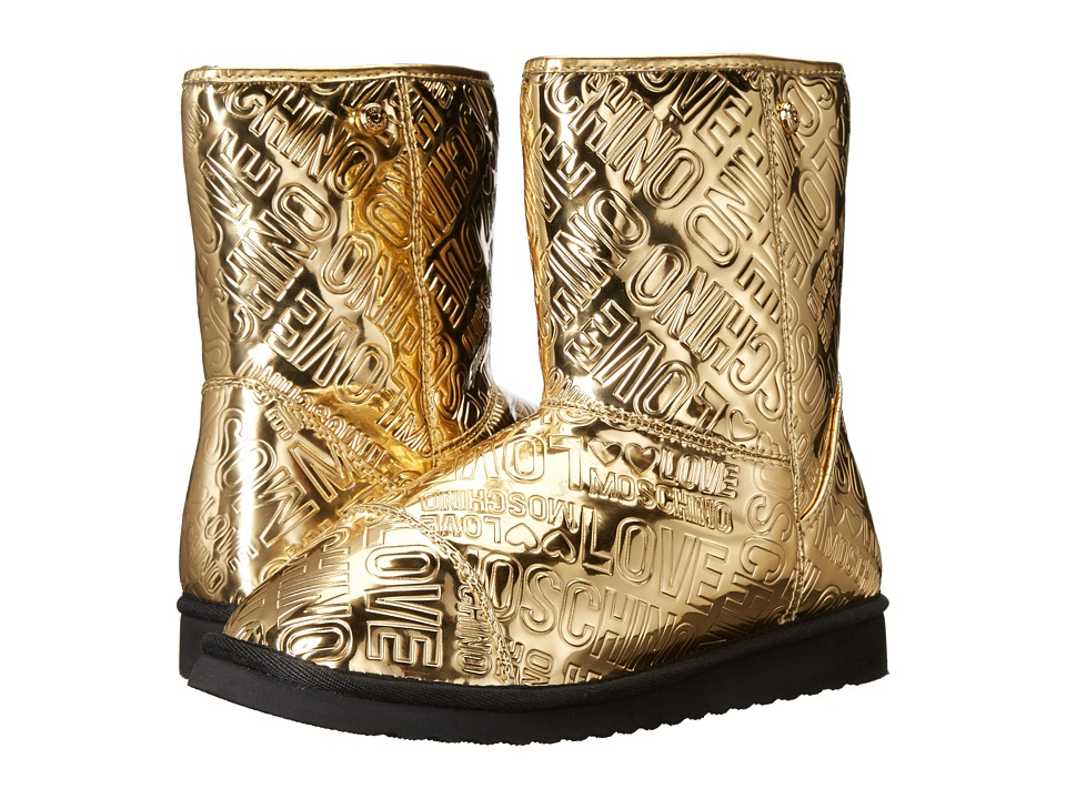 LOVE Moschino Ankle Boots (Gold) Women