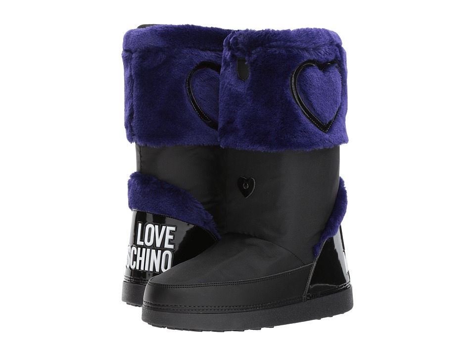LOVE Moschino Moon Boots (Blue/Black) Women