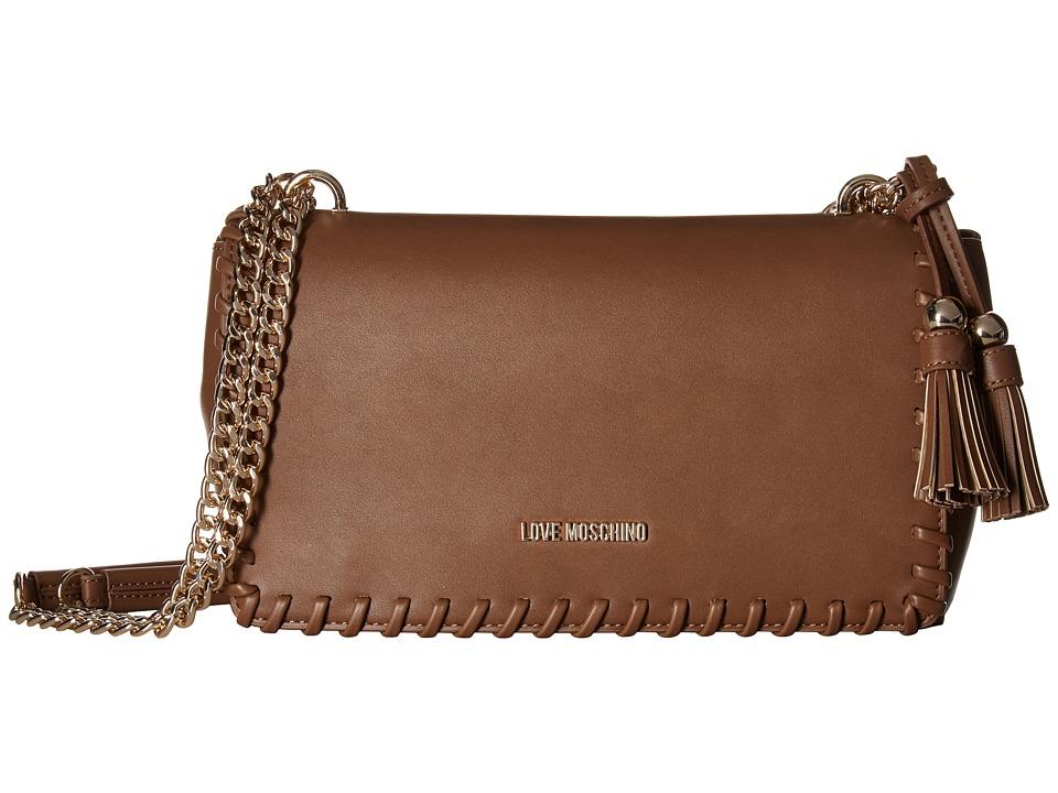 LOVE Moschino - Tassel Rectangle Bag (Camel) Handbags