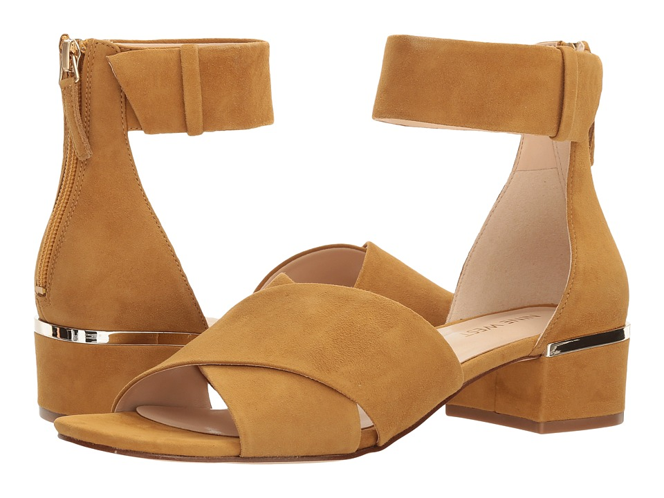 Nine West Yesterday (Tumeric Isa Kid Suede) Women's Sandals
