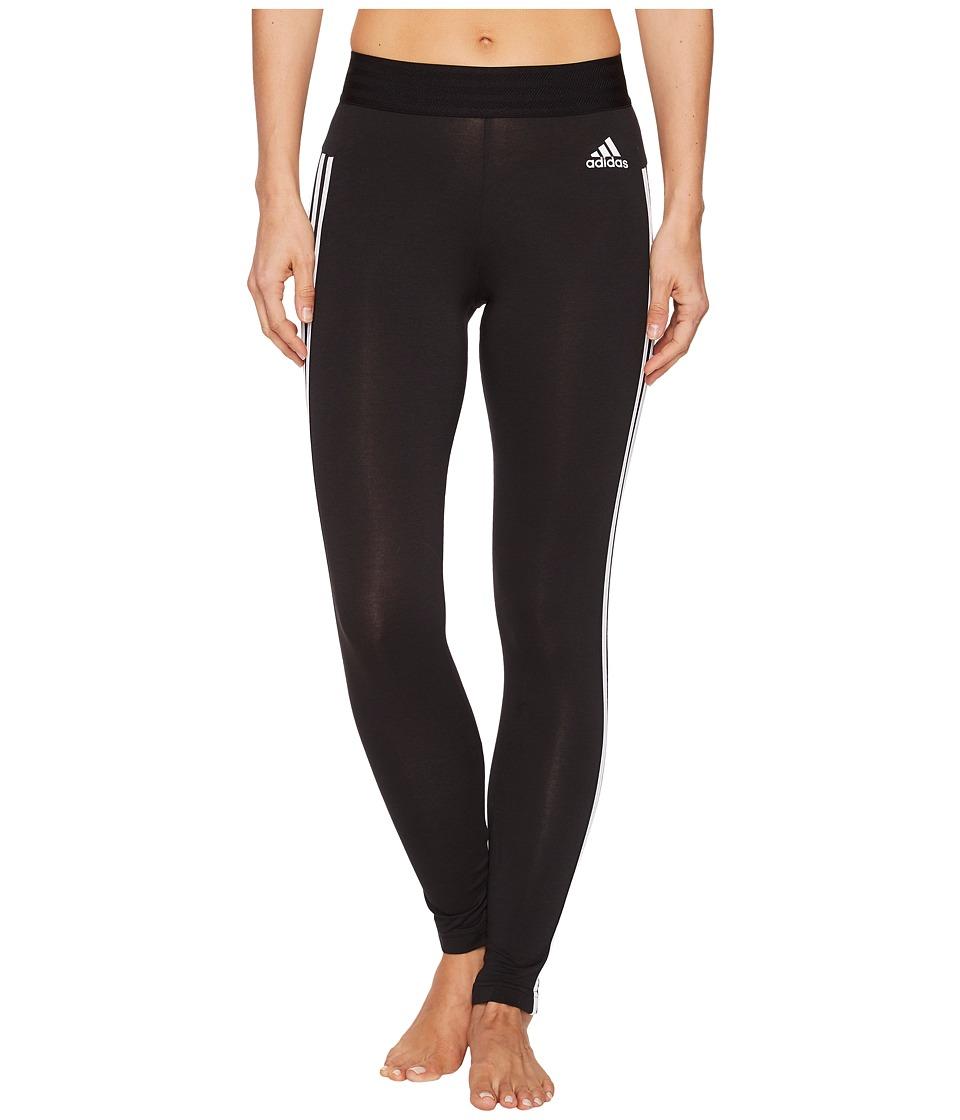 adidas Essential 3-Stripe Tights (Black/White) Women
