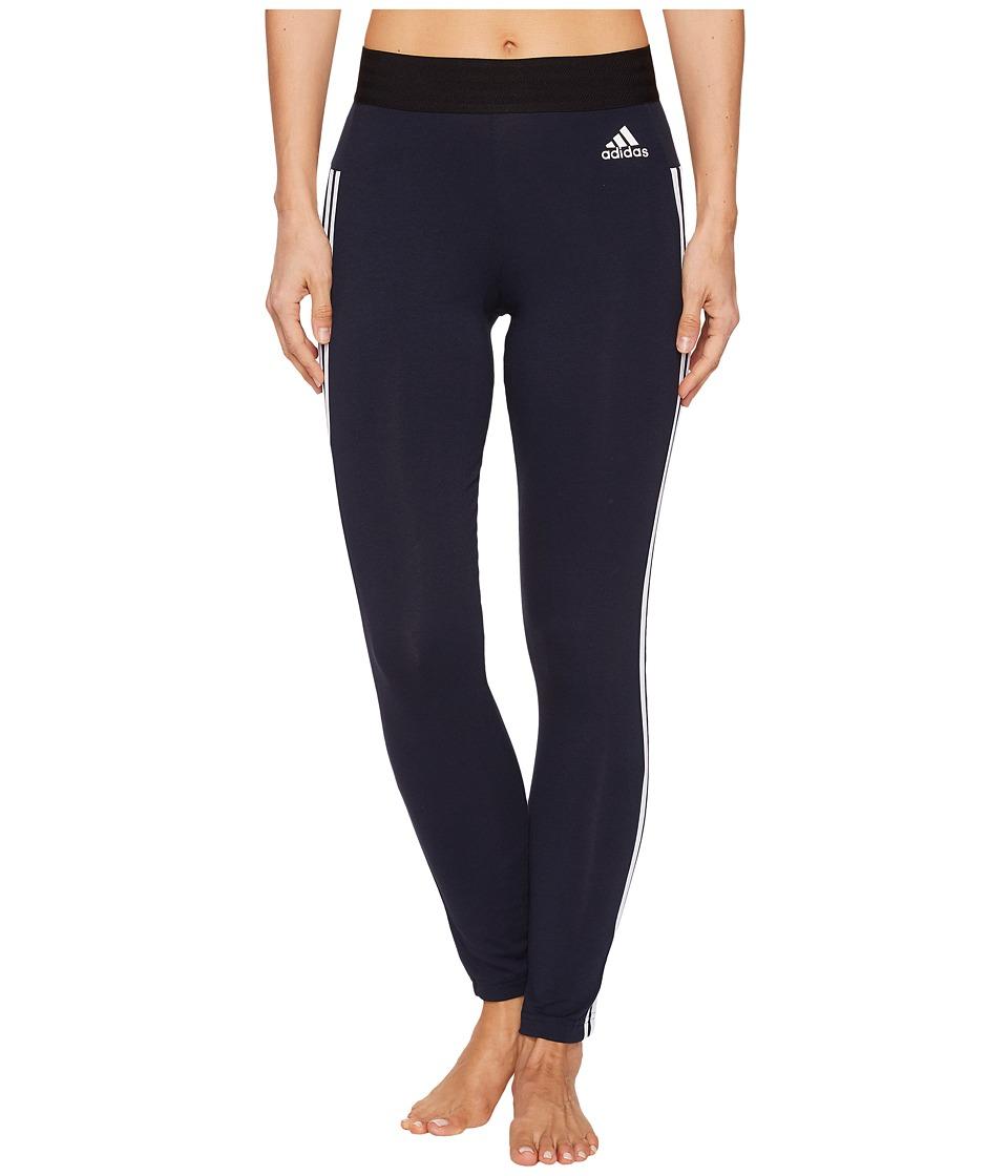 adidas Essential 3-Stripe Tights (Legend Ink/White) Women