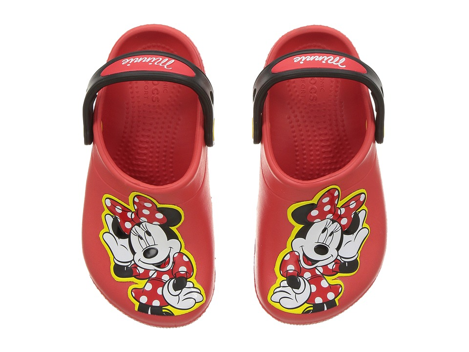 Crocs Kids - FunLab Minnie Clog (Toddler/Little Kid) (Flame) Girls Shoes