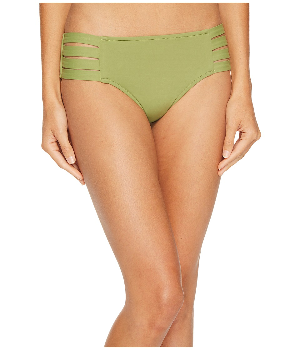 Seafolly Fastlane Active Multi Strap Hipster Bottoms (Moss) Women