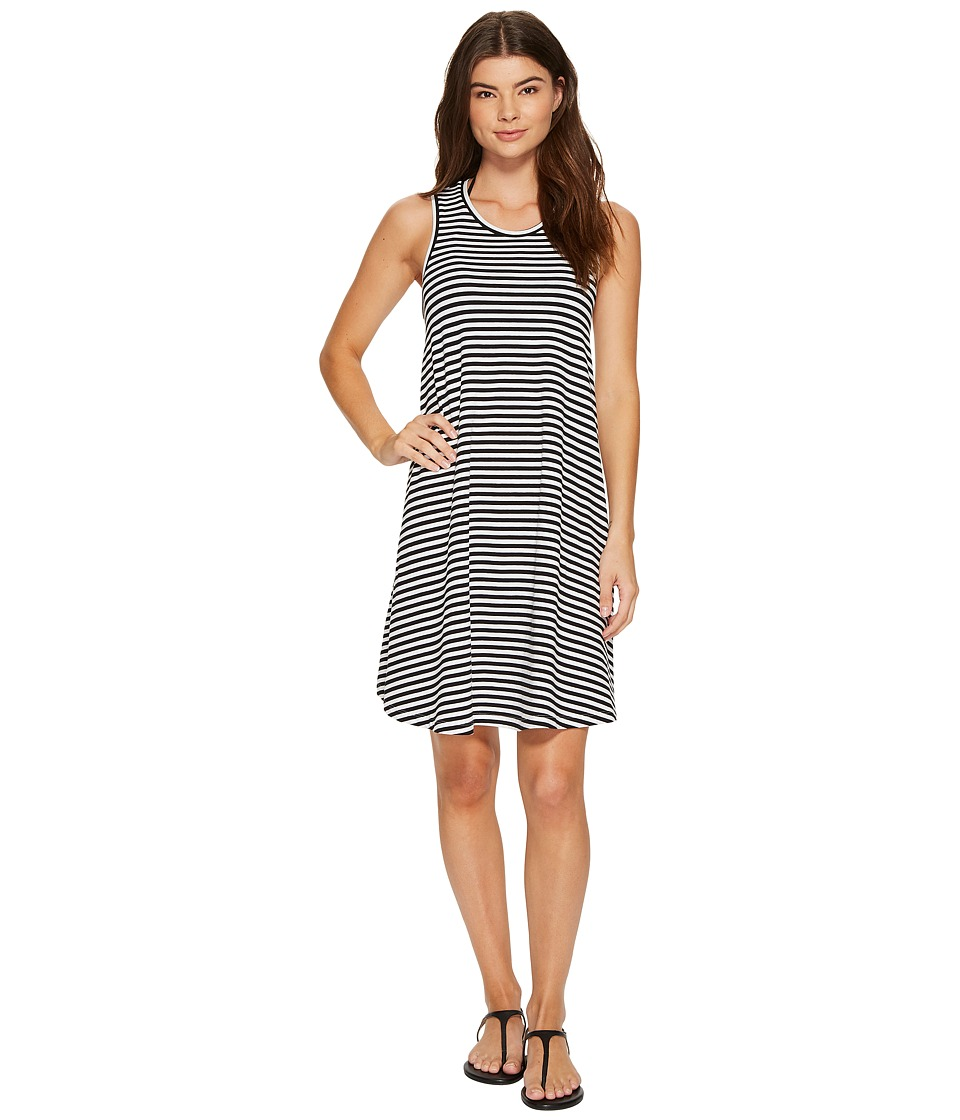 Seafolly Indian Summer Mini Stripe Swing Jersey Dress Cover-Up (Black)