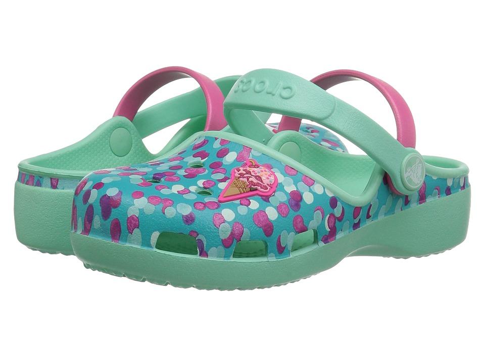 Crocs Kids - Karin Novelty Clog (Toddler/Little Kid) (Mint) Girls Shoes