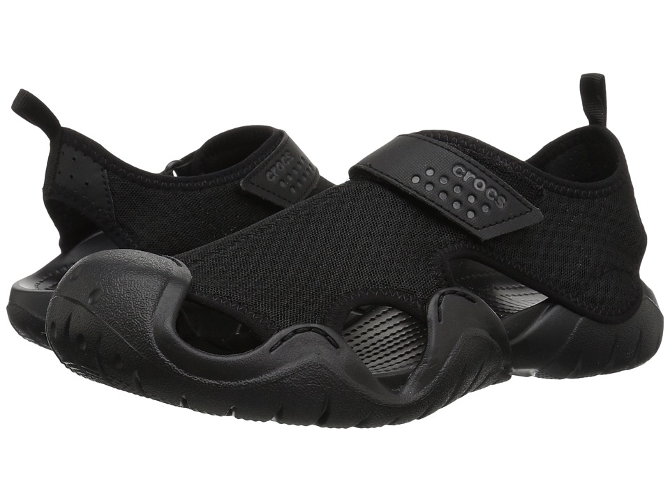 Crocs - Swiftwater Sandal (Black/Black) Men's Sandals