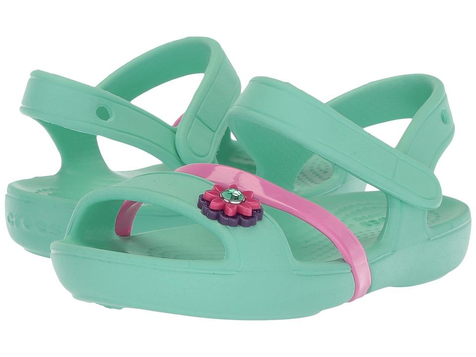 Crocs Kids - Lina Sandal (Toddler/Little Kid) (Mint) Girls Shoes