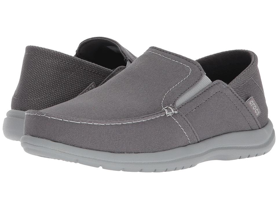 Crocs - Santa Cruz Convertible Slip-On (Light Grey/Slate Grey) Mens Slip on  Shoes