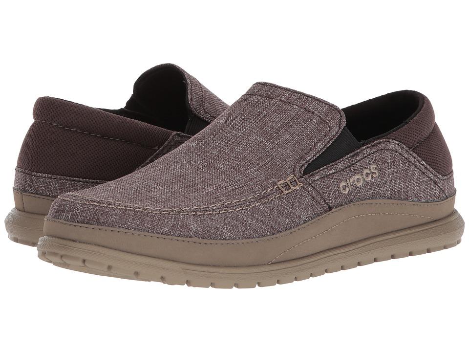 Crocs - Santa Cruz Playa Slip-On (Espresso/Walnut) Mens Slip on  Shoes